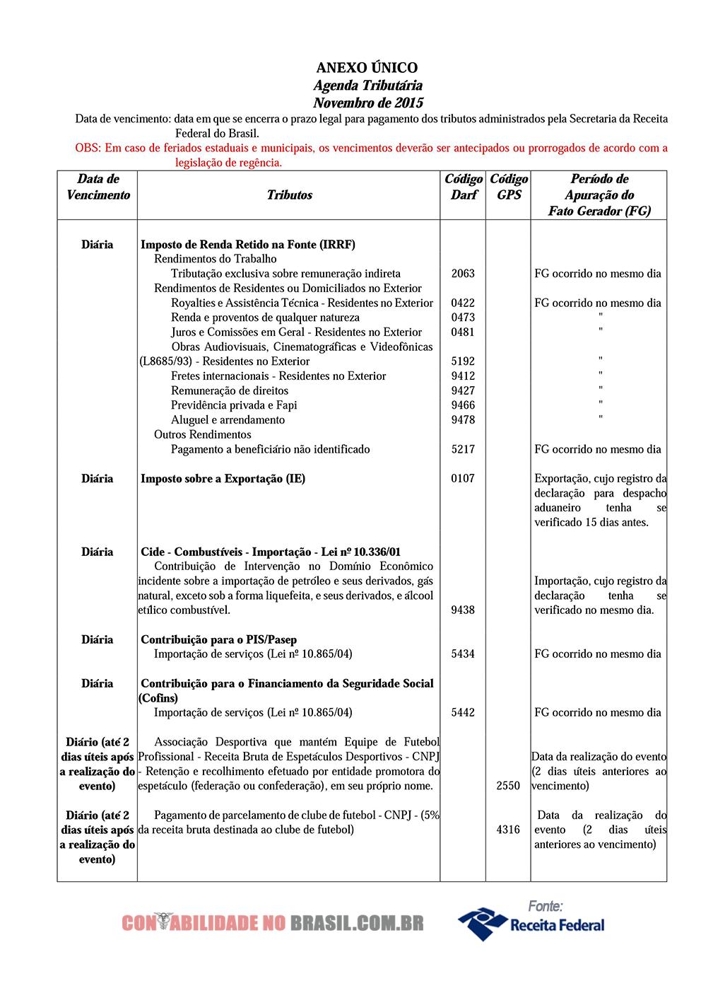 agenda tributaria novembro de 2015 01