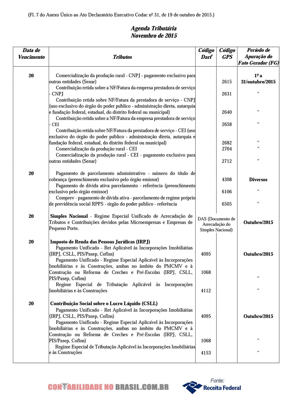 agenda tributaria novembro de 2015 07