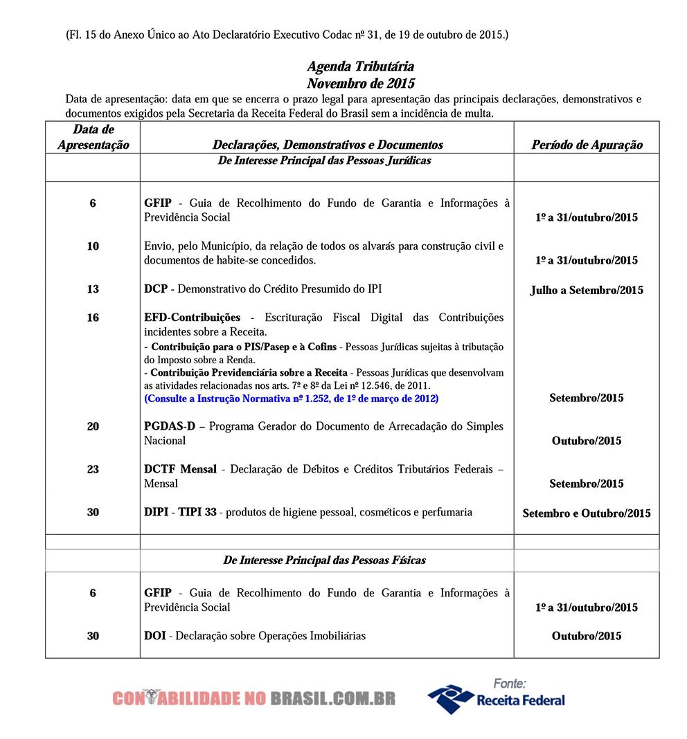 agenda tributaria novembro de 2015 15