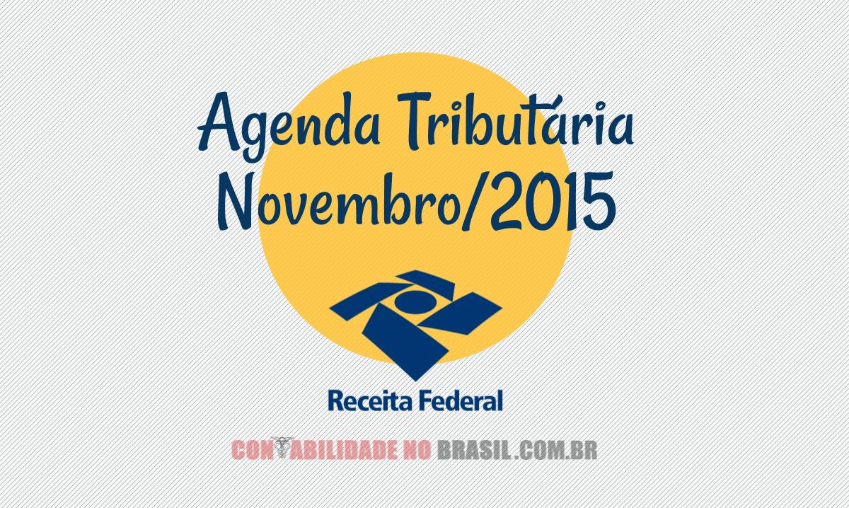 agenda tributaria novembro de 2015