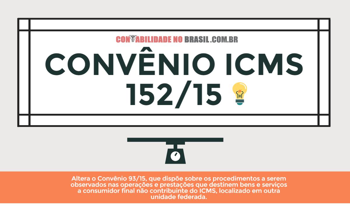 Convenio icms 152 de 2015