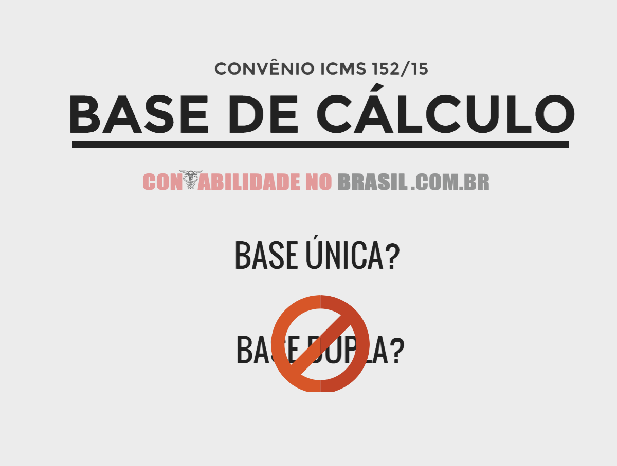 base de calculo conveio 152-15
