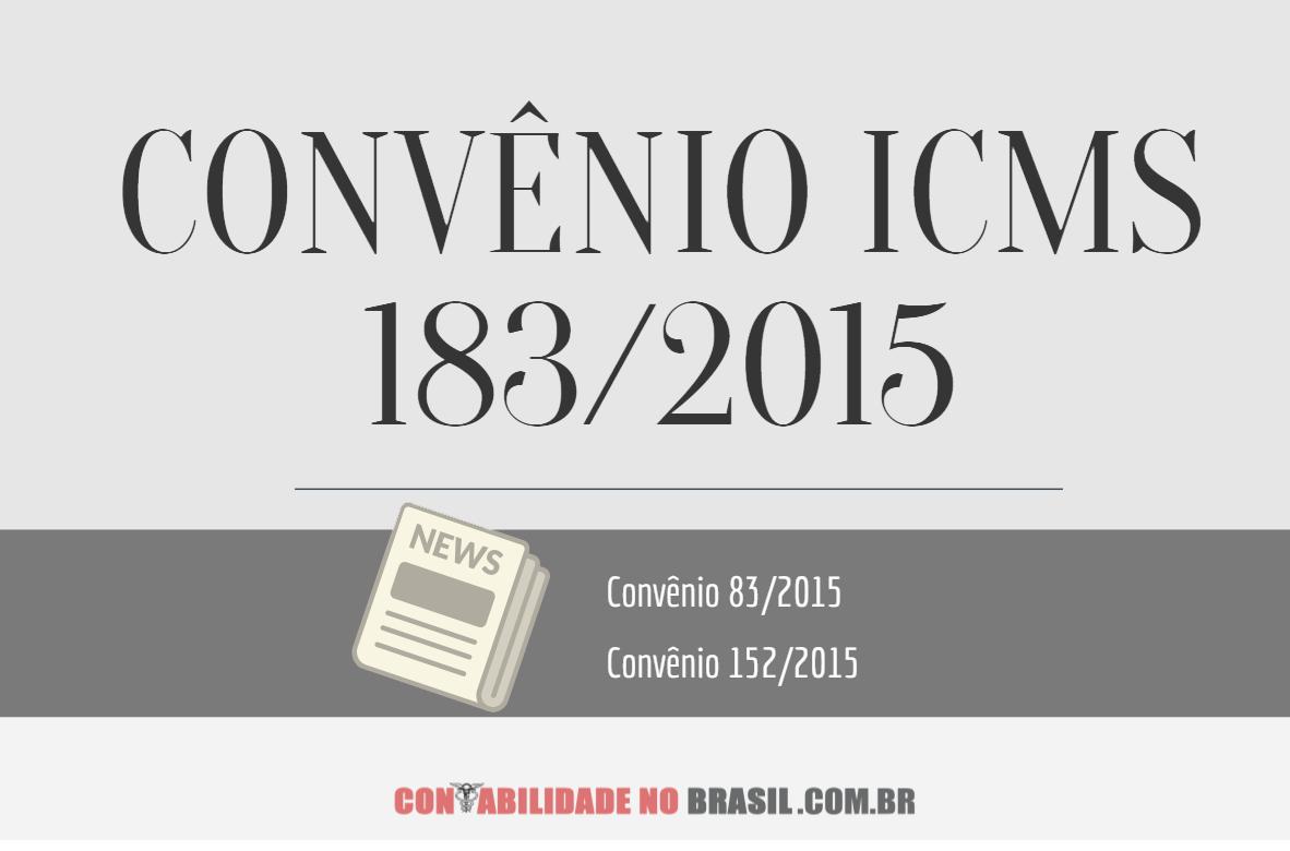 convênio icms 183 de 2015
